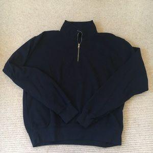 brandy navy quarter zip pullover jacket
